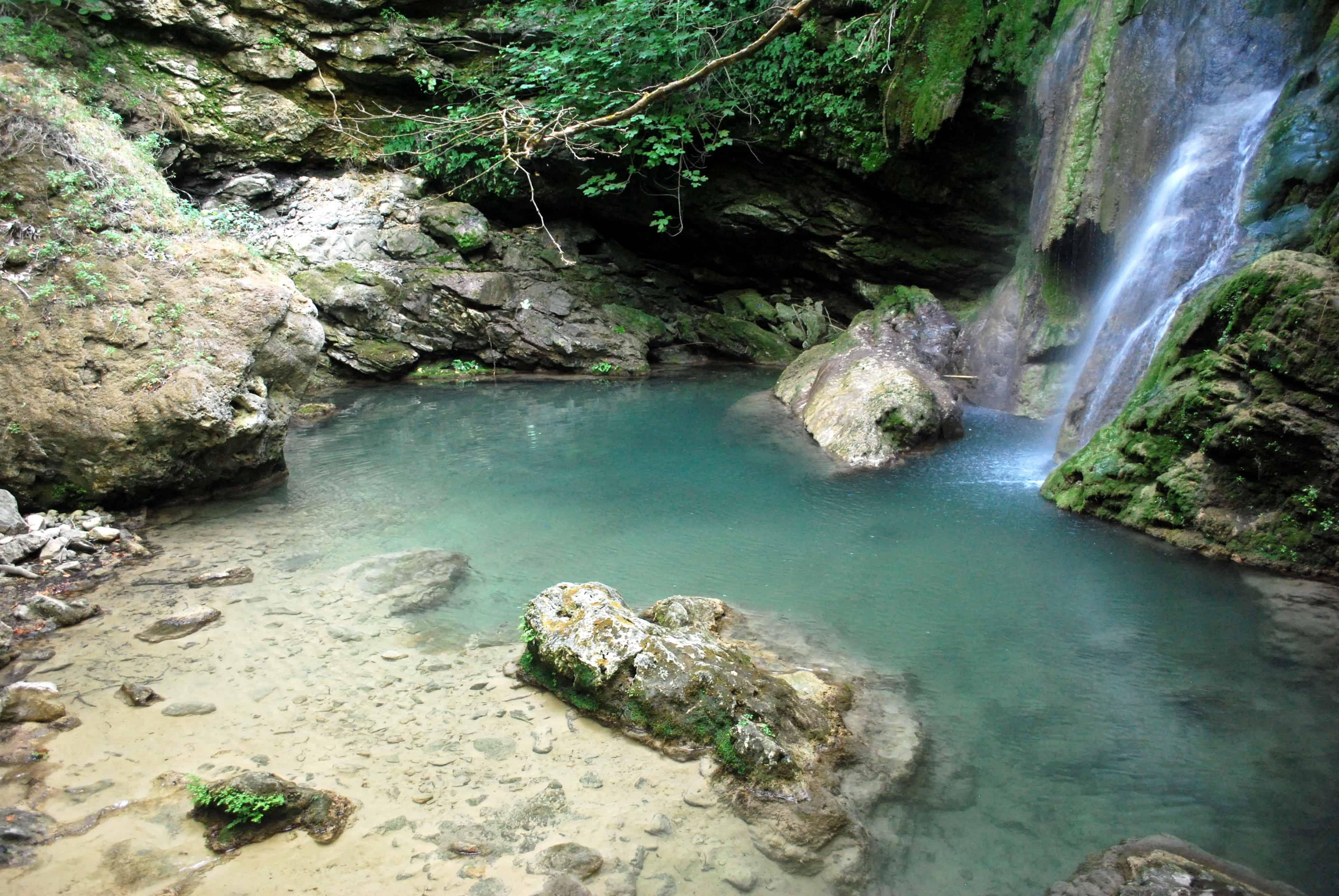Waterfall at Mylopotamos Kythera