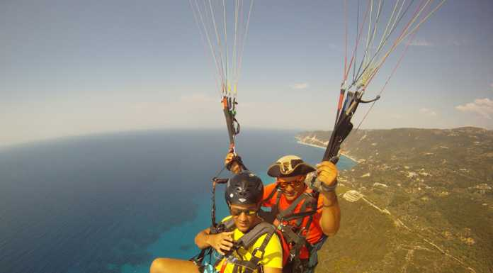 paragliding and paramotoring