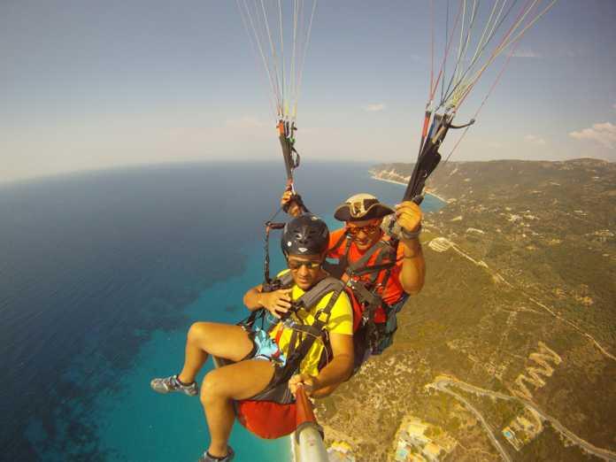 paragliding and paramotoring
