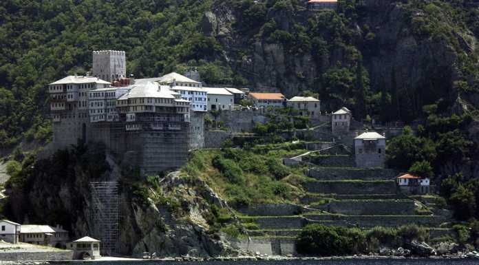 Mount Athos Greece, *Subject: Mountain Athos, monastery *Photographer: Witold Rawicz (PL) {{GFDL}}