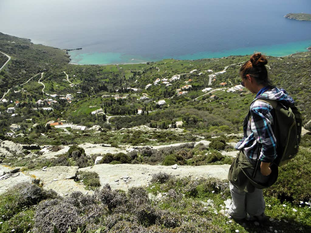 hiking andros greece