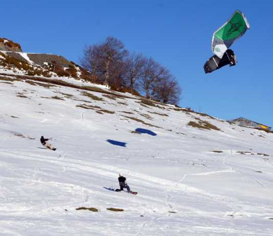 snow kiting metsovo greece