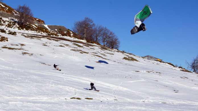 snow kiting metsovo greece