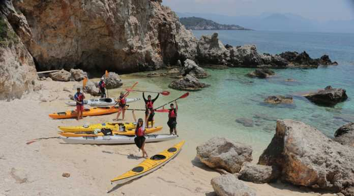 Sea Kayak at Ioanian sea