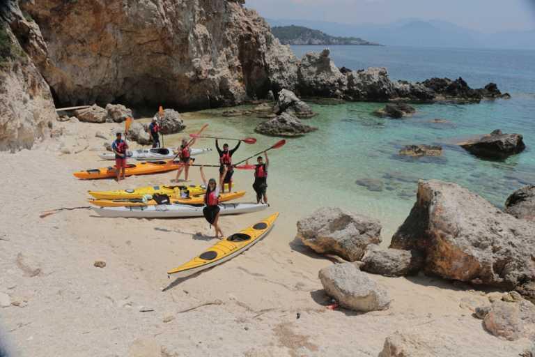 Sea Kayak at Ioanian sea
