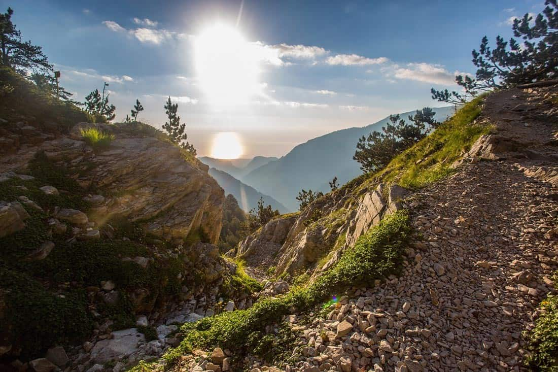 Fantastic nature of the mountain