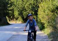 Happy Cyclist towards Nemea