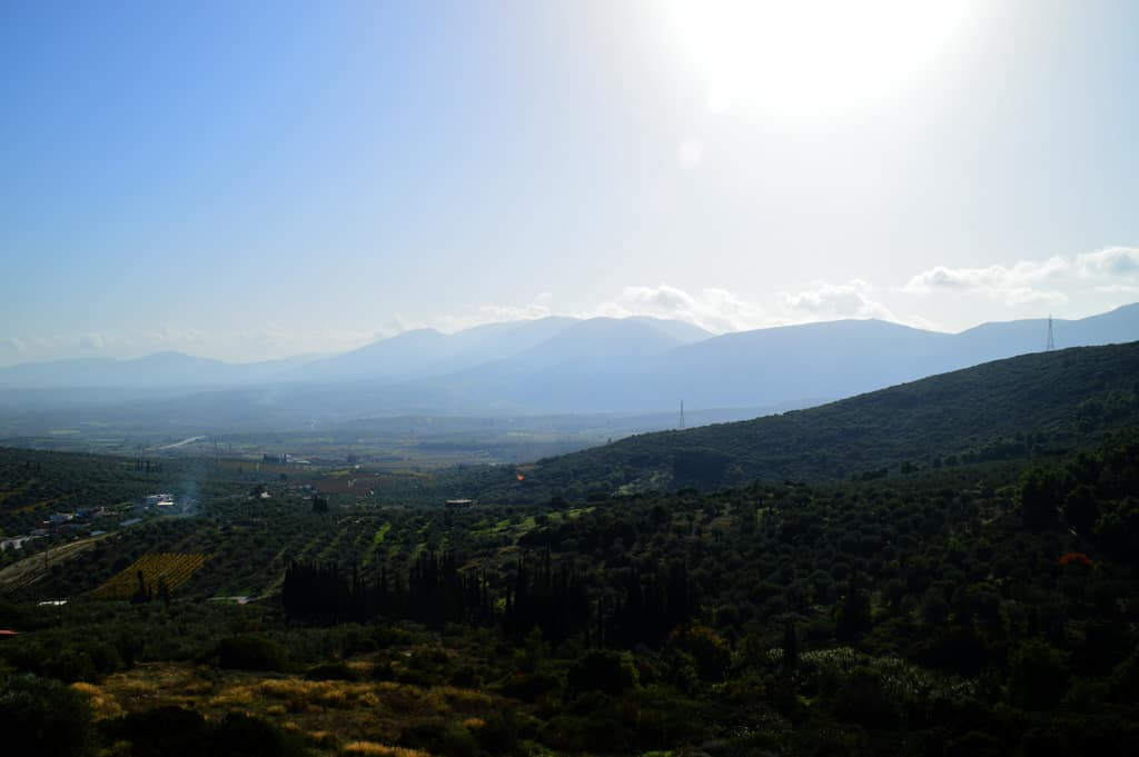 Valley view from Lafkiotis Winery
