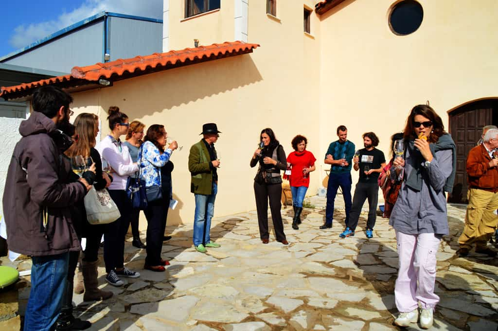 Ioanna explaining the secrets of the wine