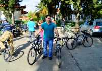 Nemea Museum, just arrived with bicycles