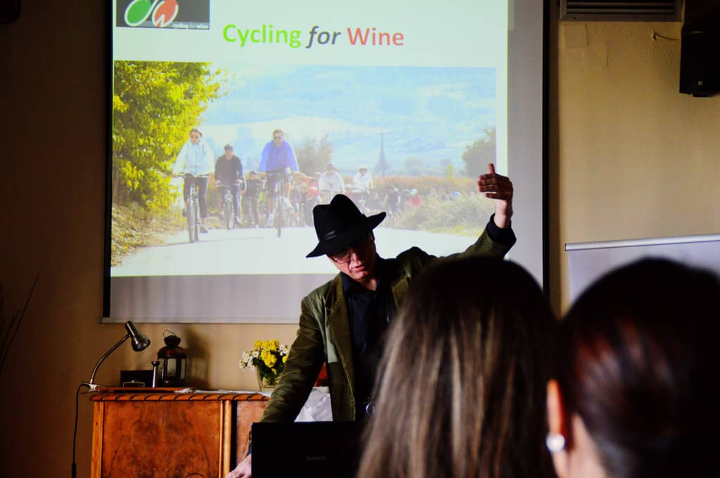 Themis presenting wine magic and cycling