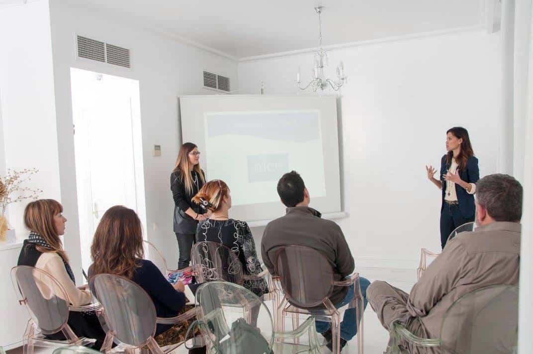 Elena and Marissa explaining TBG concept
