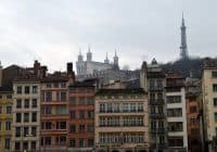 Lyon, from the bridge crossing from Place Bellecur