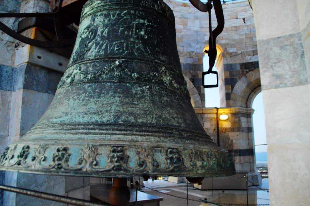 One of the bells of Pisa tower
