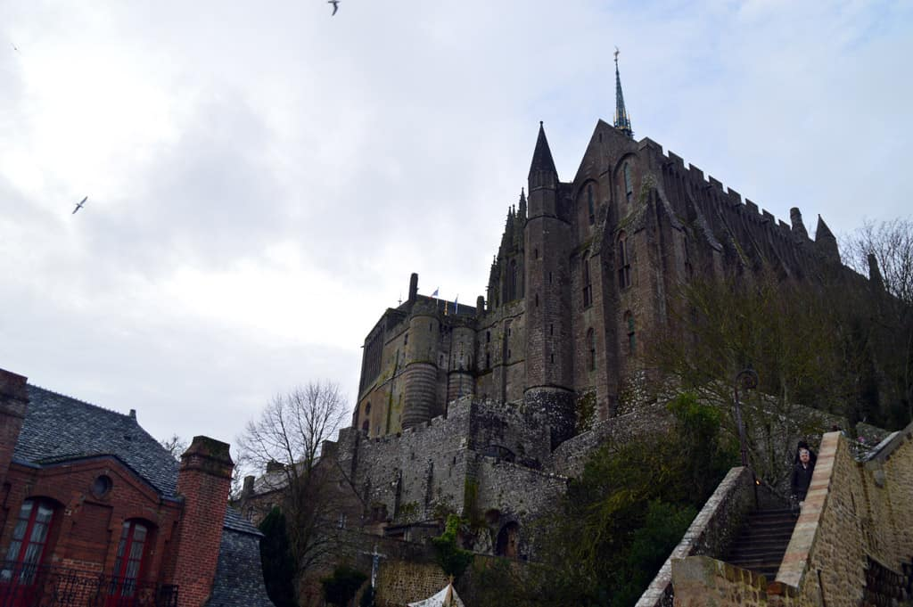 Mont Saint Michel going up to Abbey