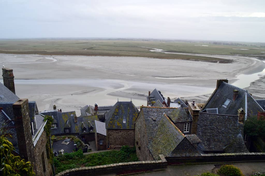 Mont Saint Michel Abbey view from top
