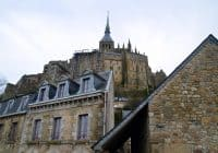 Mont Saint Michel Abbey view from the stone towers