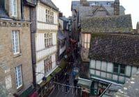 Mont Saint Michel looking down at the village