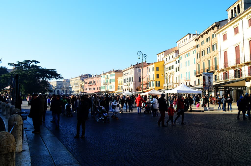 Piazza Brà, Verona's central square, and just 50 metres from the Arena