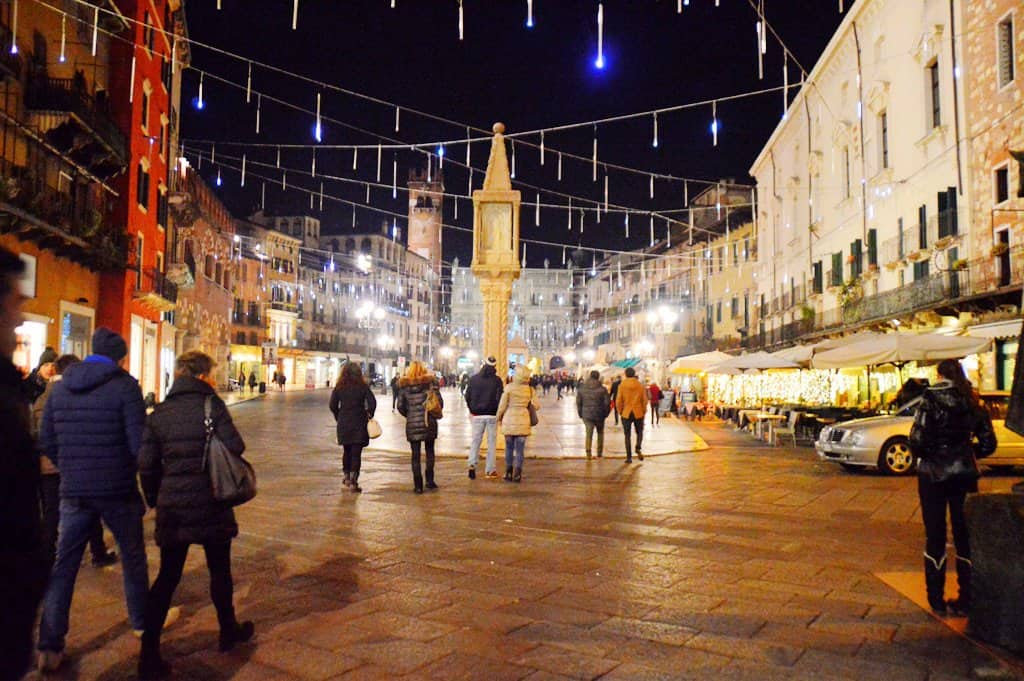 Verona late at night