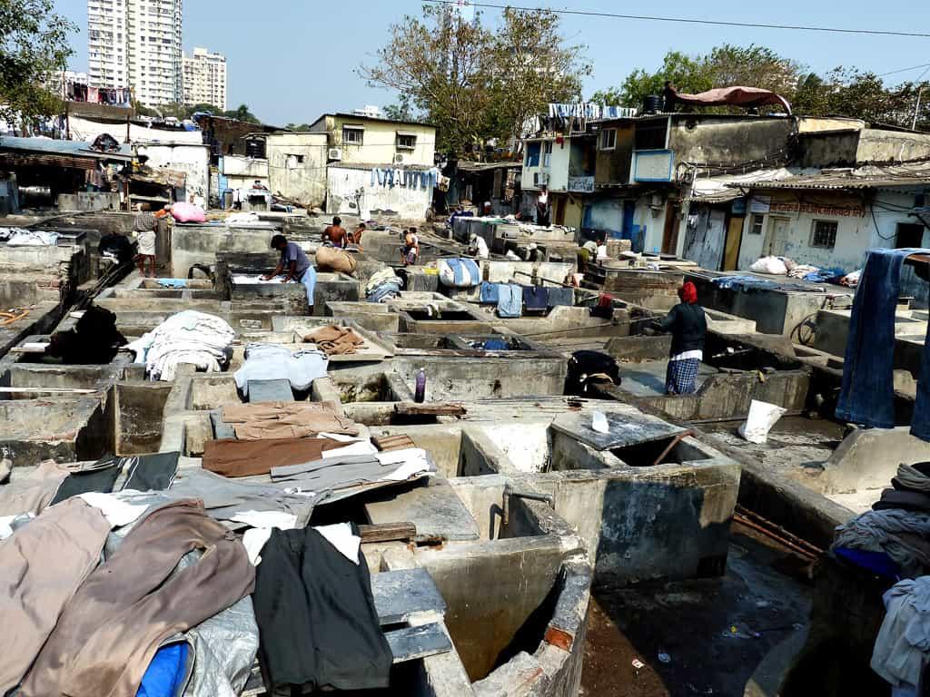 Open air laundromat in Mumbai