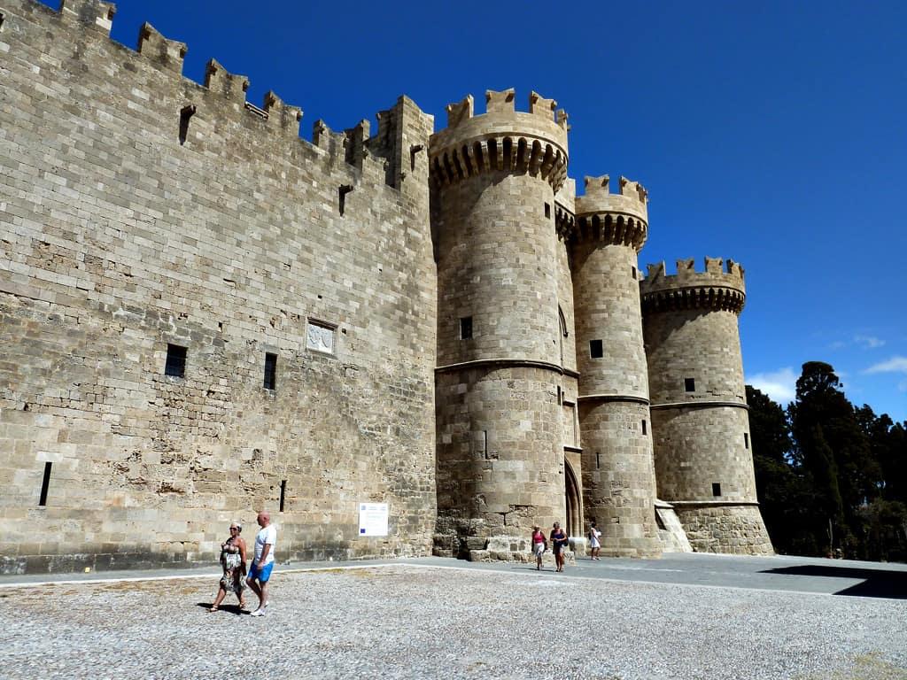 Castle of Rhodes Greece