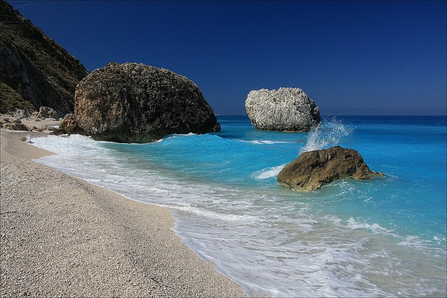 Megali Petra beach - Lefkada island