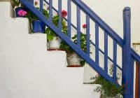 Blue Banister, Mykonos Town, Greece