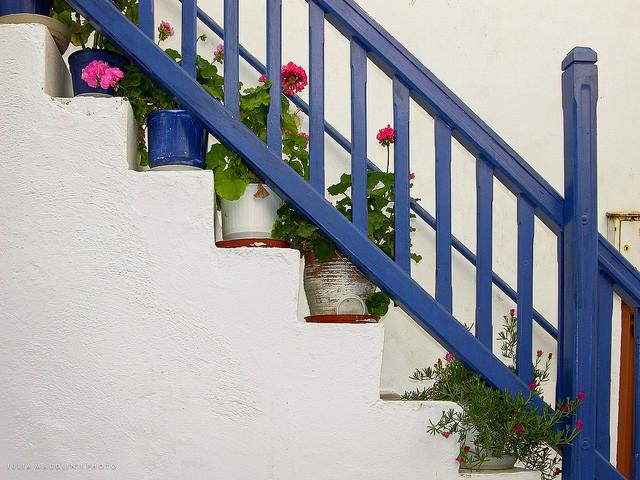 Blue Banister, Mykonos Town, Greece