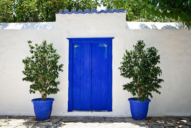 Blue Doors, Hydra, Greece