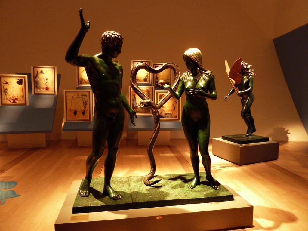 Adam & Eve, first conceived 1968 first cast 1984, bronze