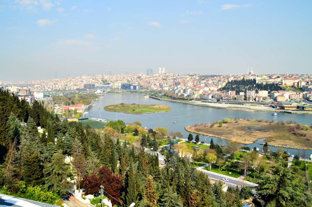 Eyup hill and Pier Lotti Cafe Istanbul Turkey
