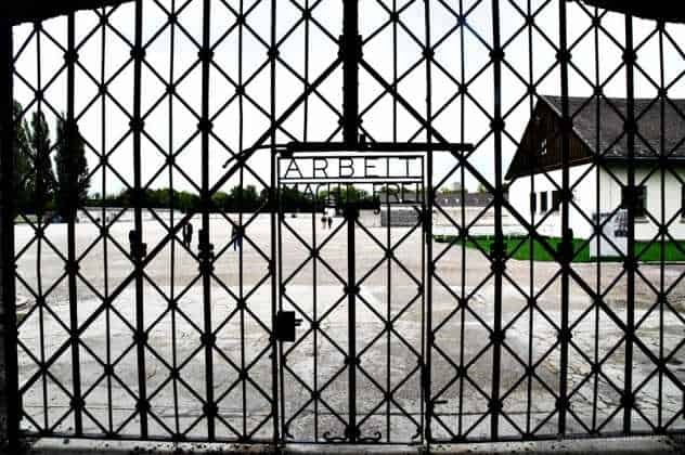 Entrance to Dachau camp