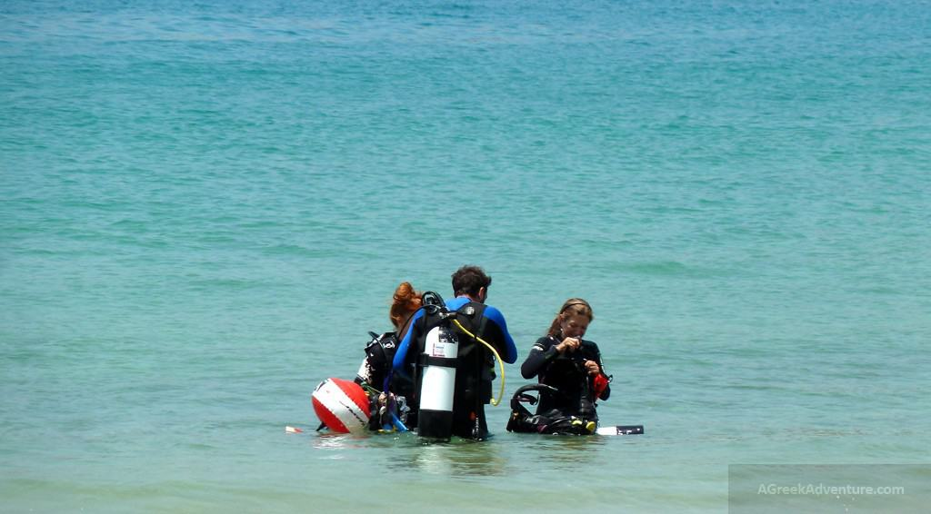 Scuba Diving at Mylopotas beach
