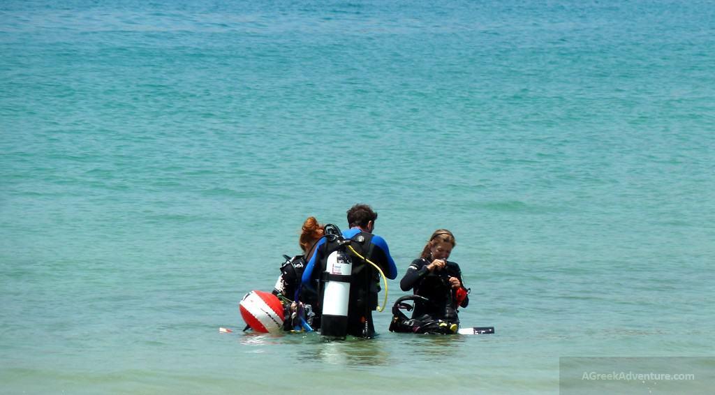 Scuba Diving at Mylopotas beach