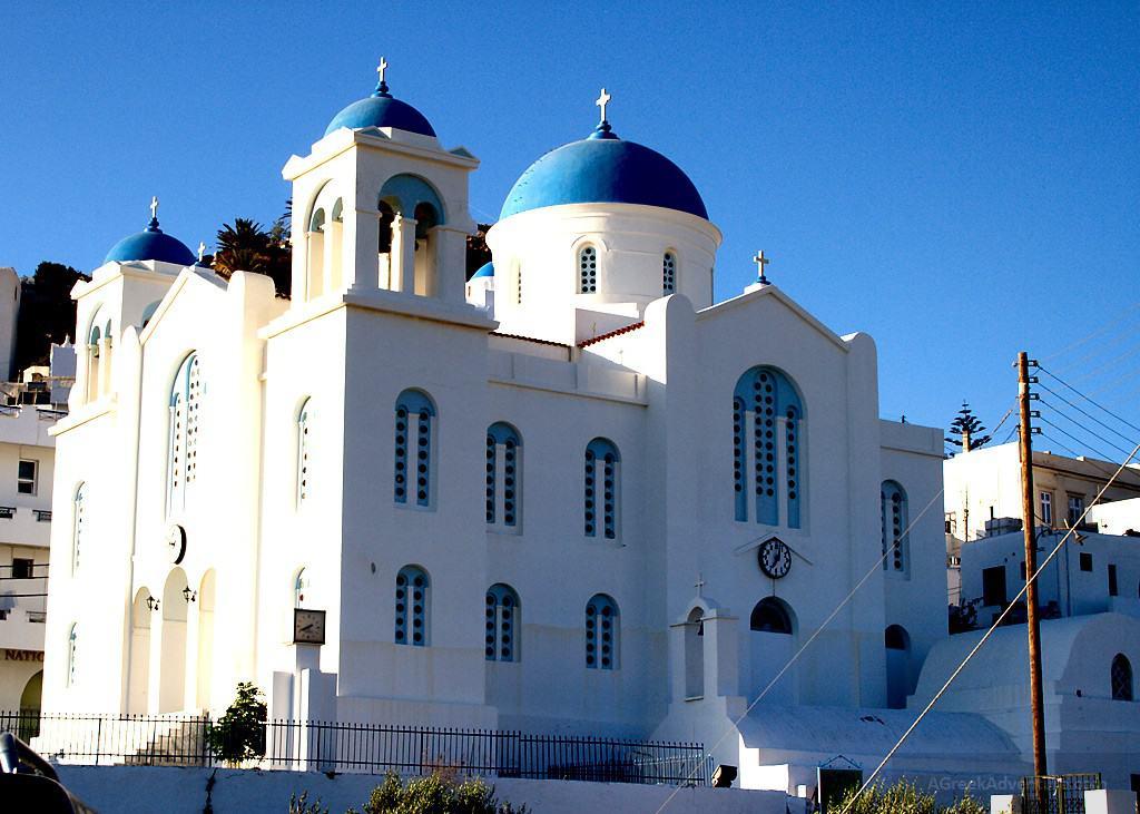Ios Greece, Church in Hora