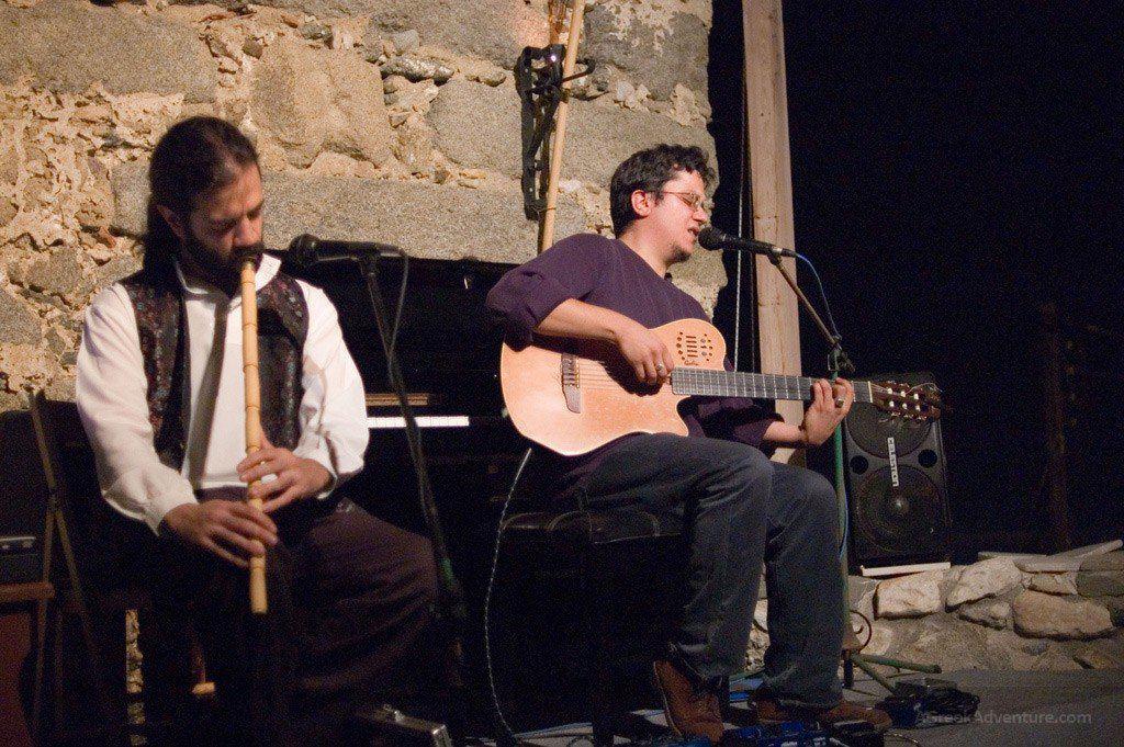 Vassilis Tzavaras: guitar, piano and vocals Haris Lambrakis: Ney at the Domus festival, Venetian museum, Naxos