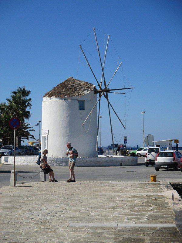 Windmill at Paros Harbour