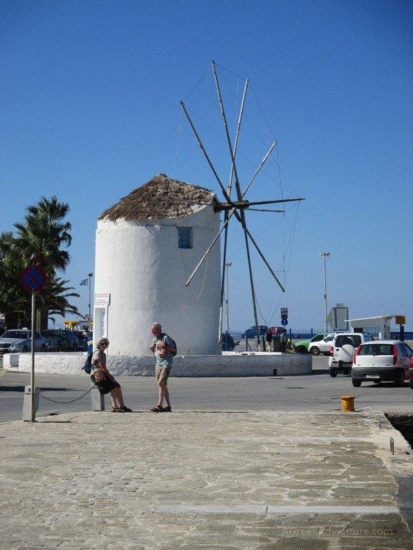 Windmill at Paros Harbour
