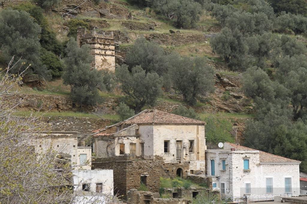 Mountainous Greek Island In North Easr Aegean