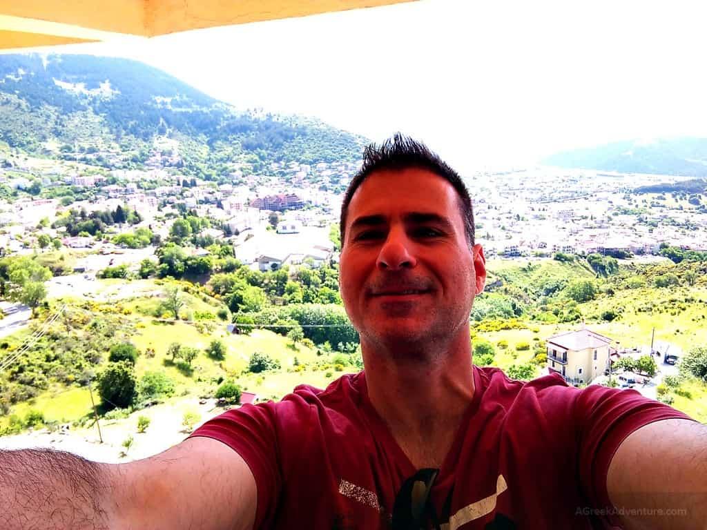 Karpenisi. Selfie from Lecadin Hotel