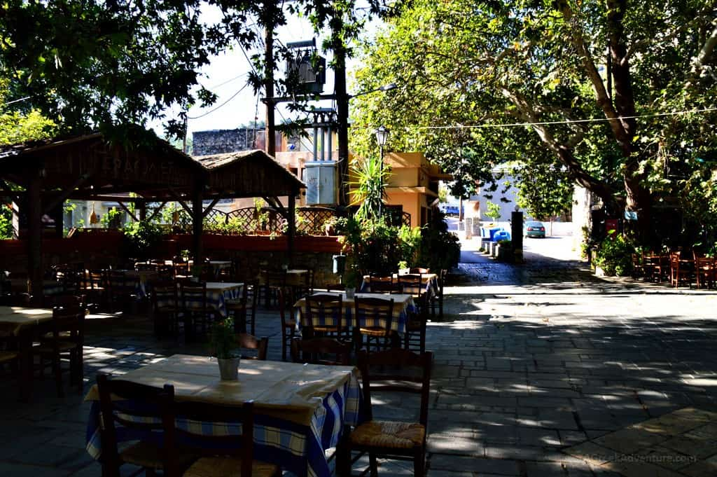 Chios island, Upper Kardamila square