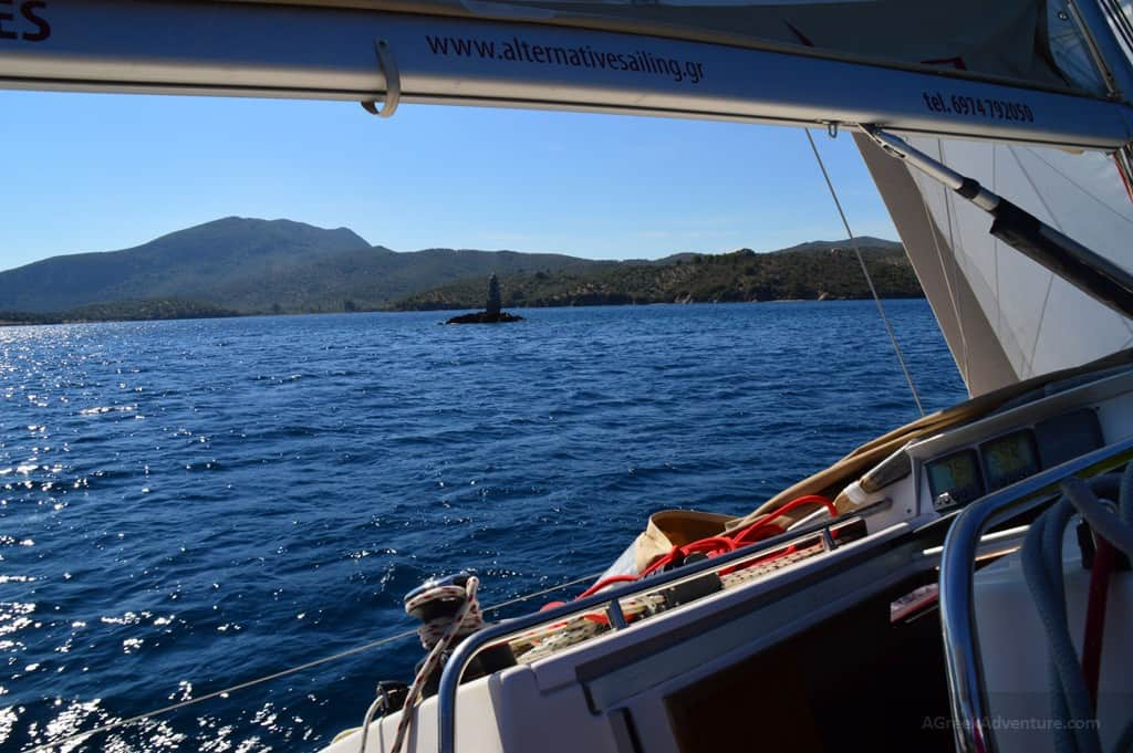 Sailing Lesvos from Mytilene to Gera Gulf
