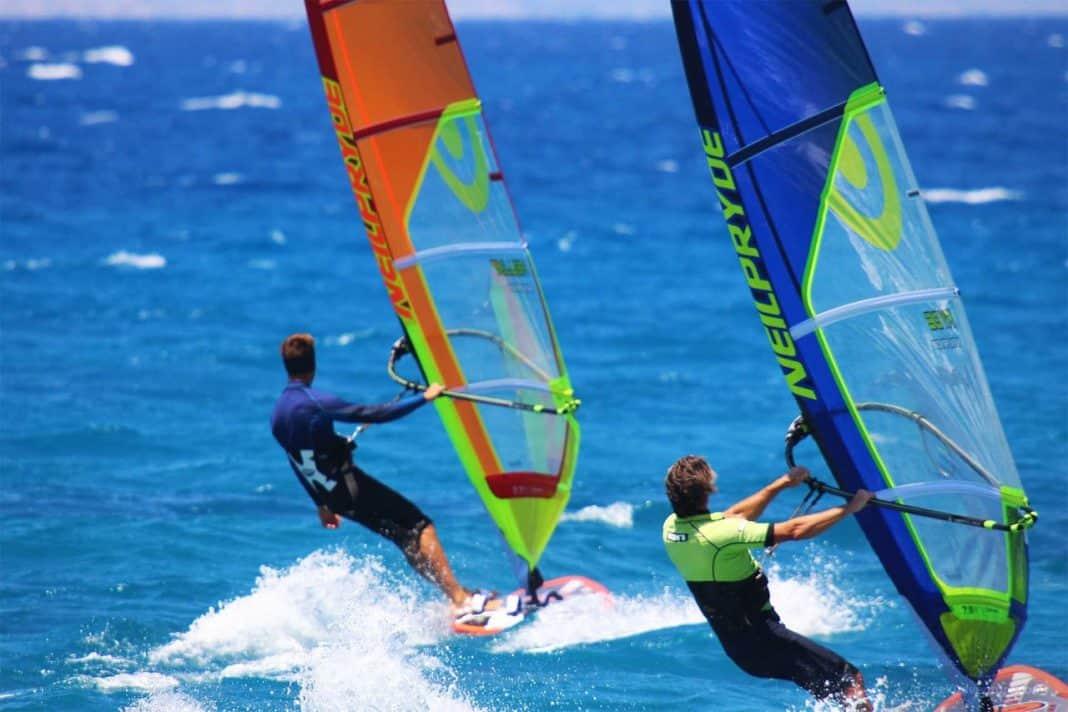 Hot Windsurfing Ixia Rhodes Greece Surfers Paradise