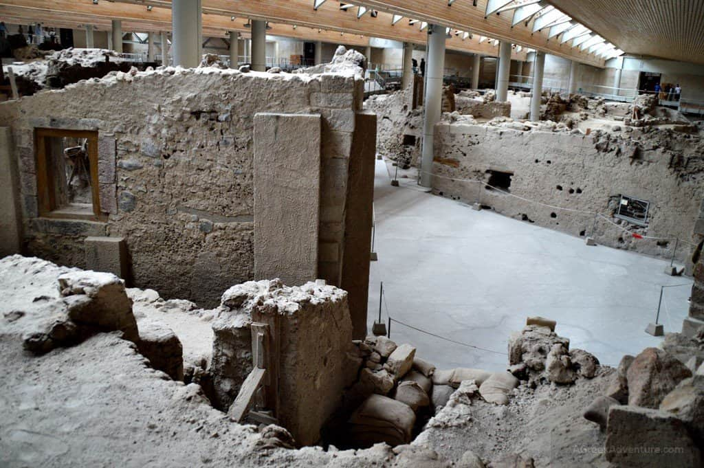 Akrotiri Archaeological Site in Santorini