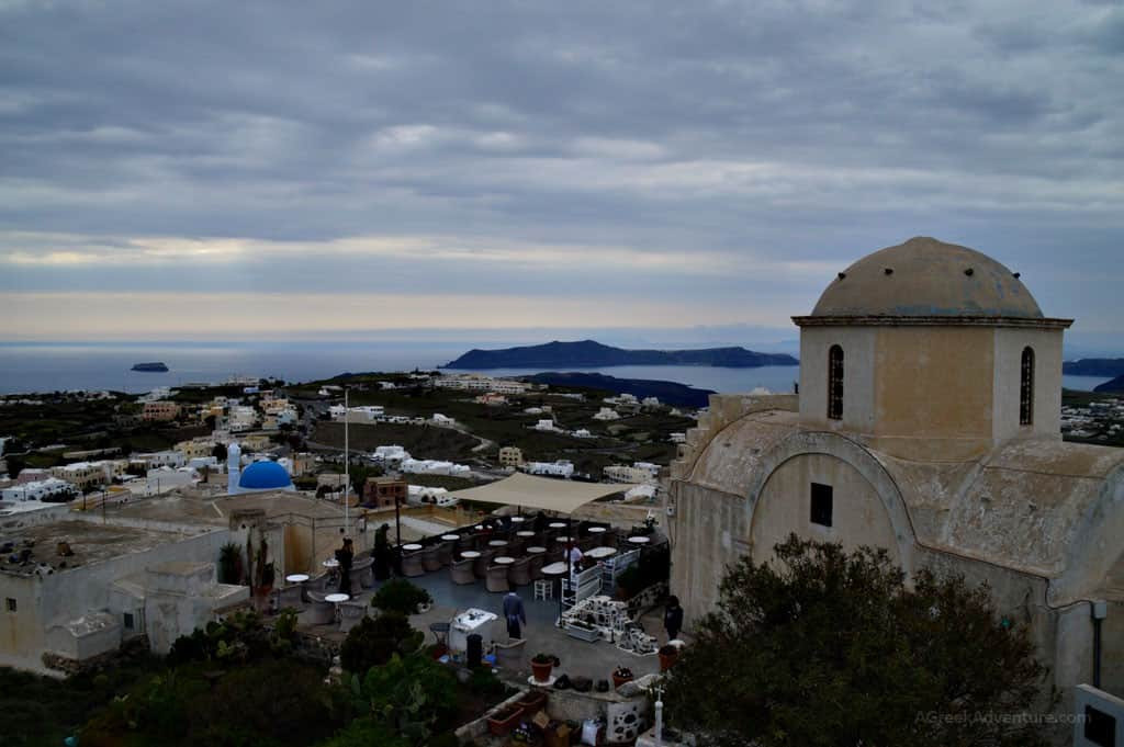 Santorini Pyrgos Village Standing Proud with Panoramic Views