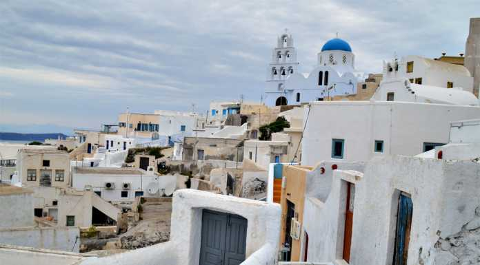 Santorini Pyrgos Village Standing Proud with Panoramic Views