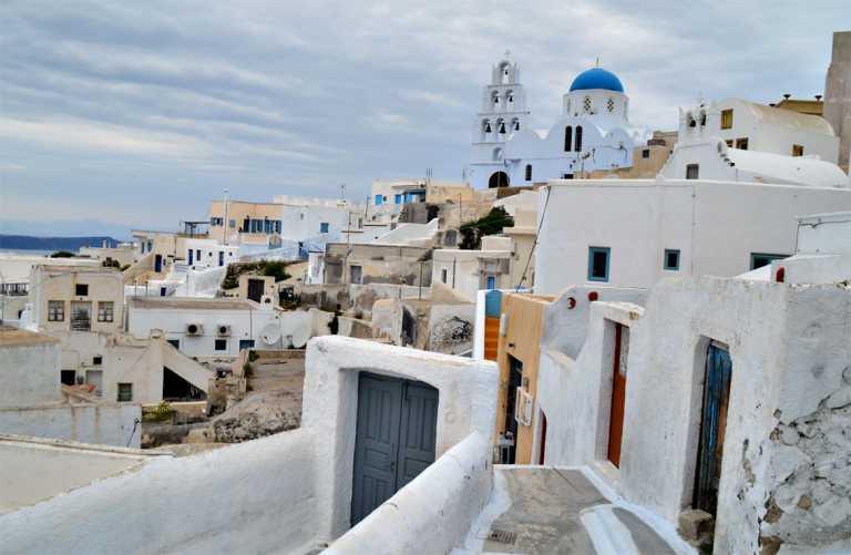 Pyrgos Santorini Village Standing Proud with Panoramic Views