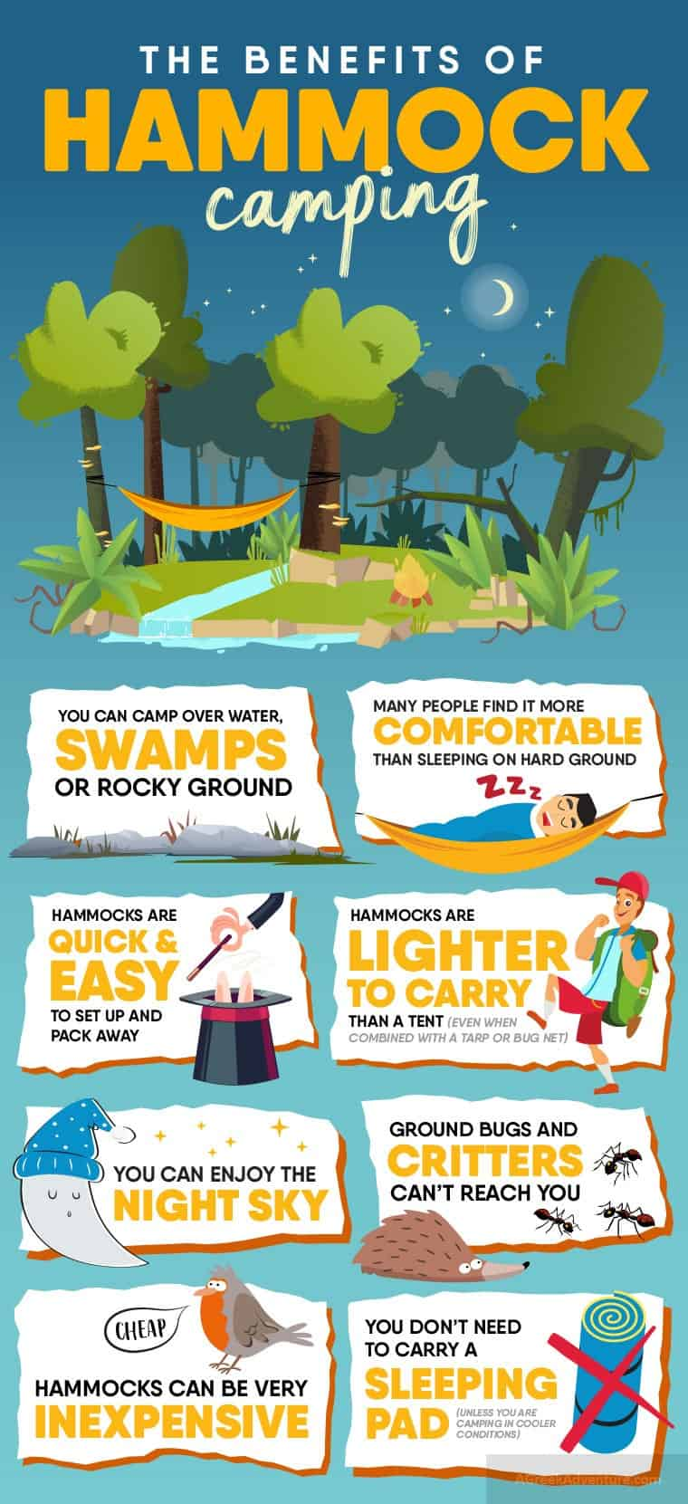Benefits of Camping In Your Hammock