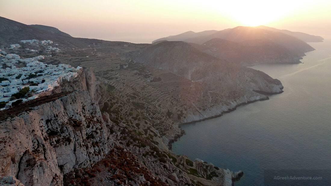 Folegandros Island in the Aegean Sea